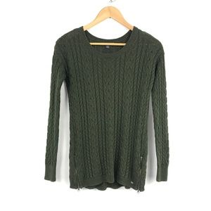 American Eagle Outfitters Olive Crew Neck Sweater